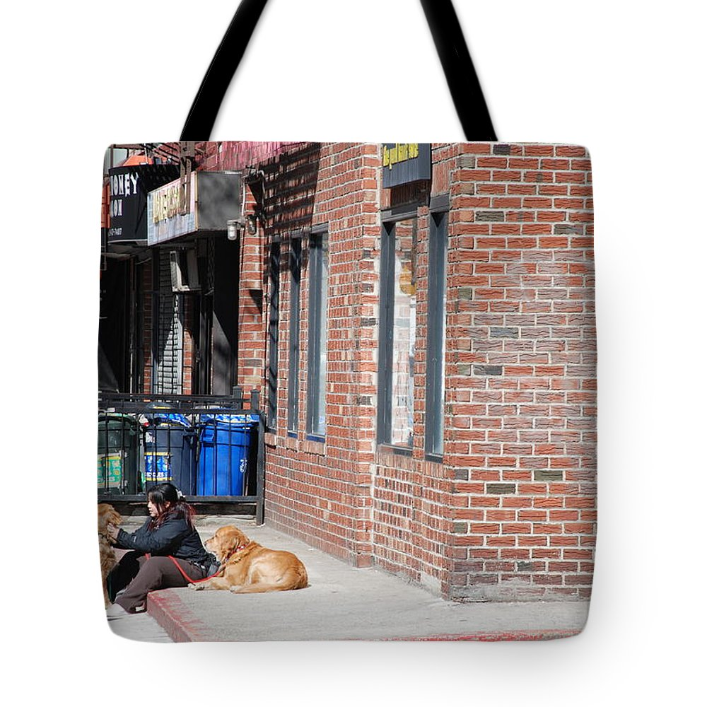 Girl Tote Bag featuring the photograph Resting On The Corner by Rob Hans