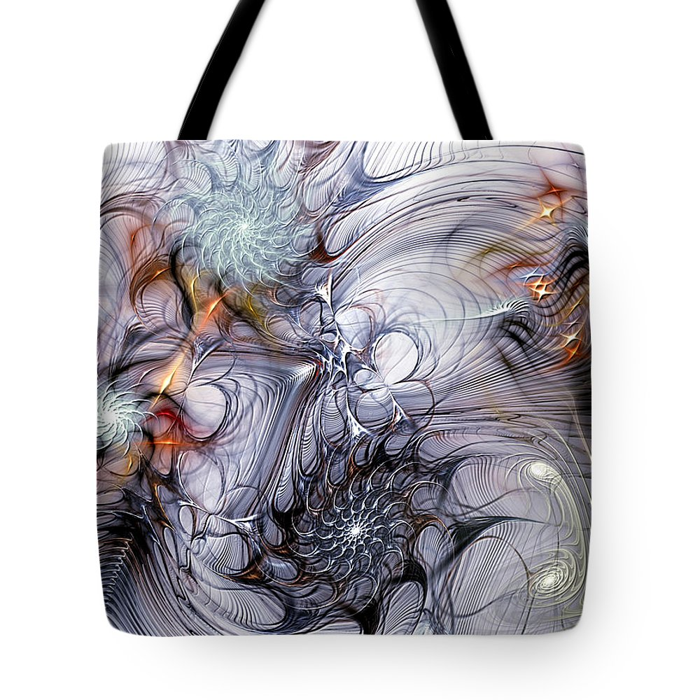 Fractal Tote Bag featuring the digital art Restive by Casey Kotas