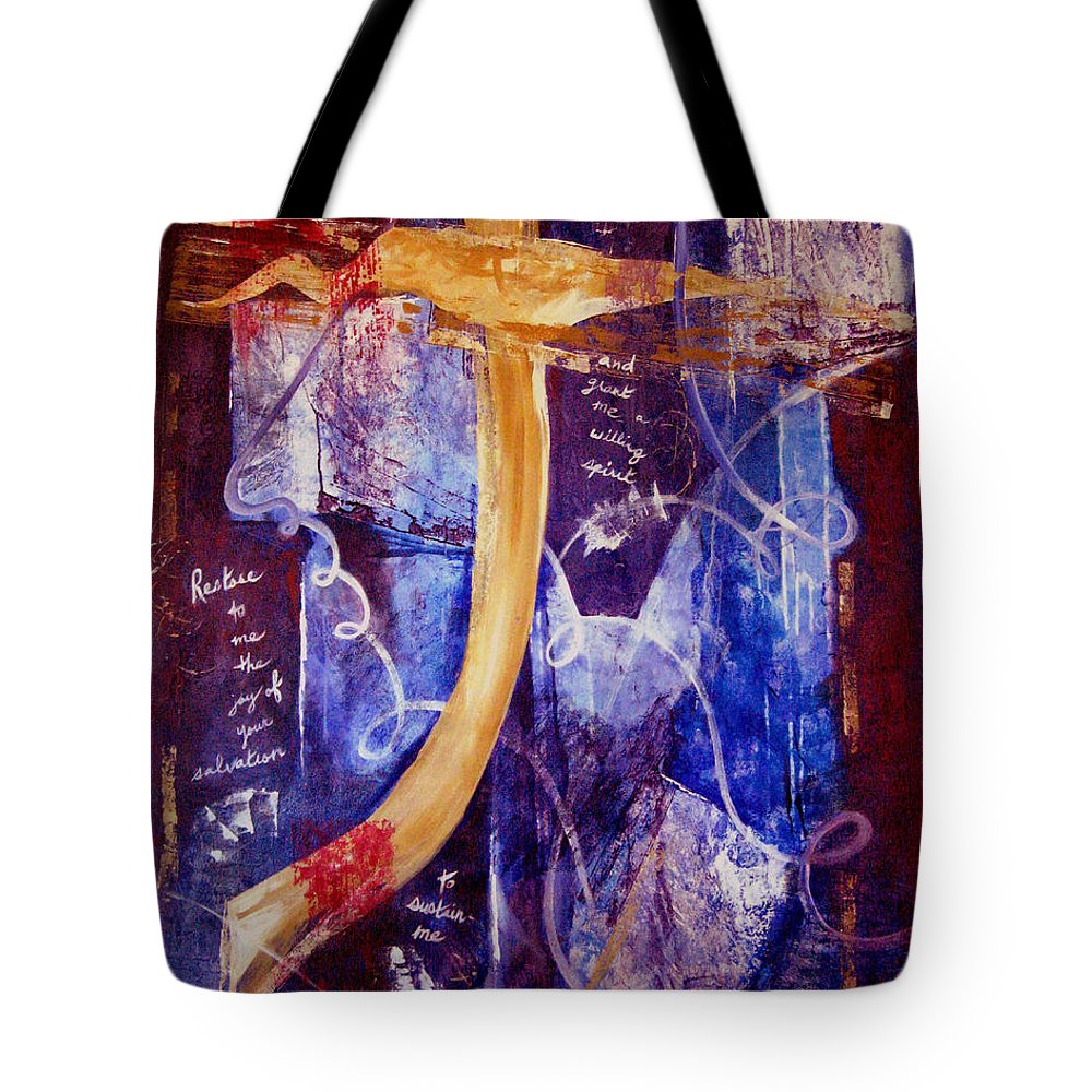 Abstract Tote Bag featuring the painting Restore To Me by Ruth Palmer