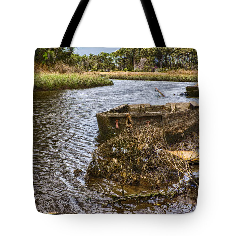 Old Boats Tote Bag featuring the photograph Retired by Jody Merritt