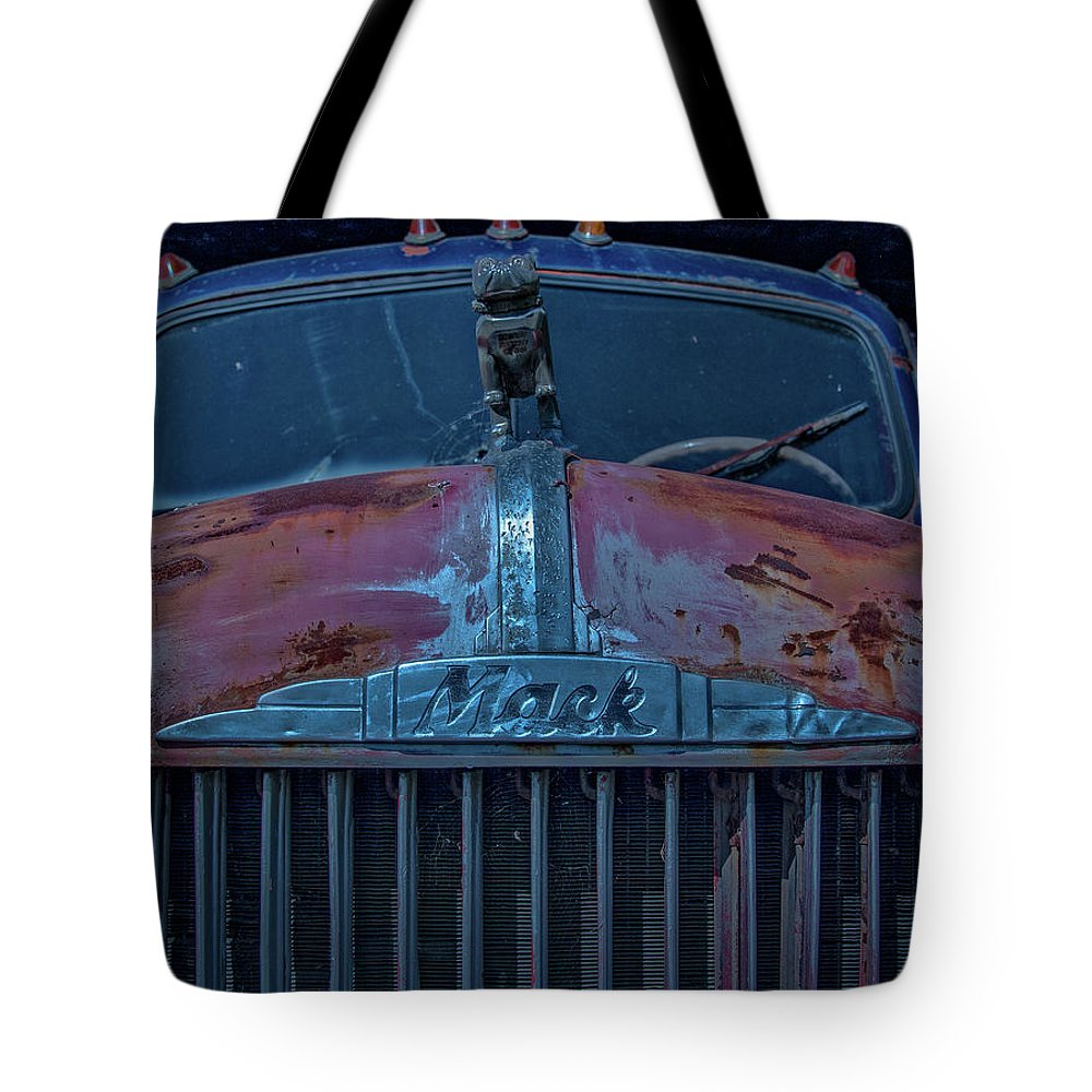 Retired Tote Bag featuring the photograph Retired Rusty Mack Iv by Tony Pushard