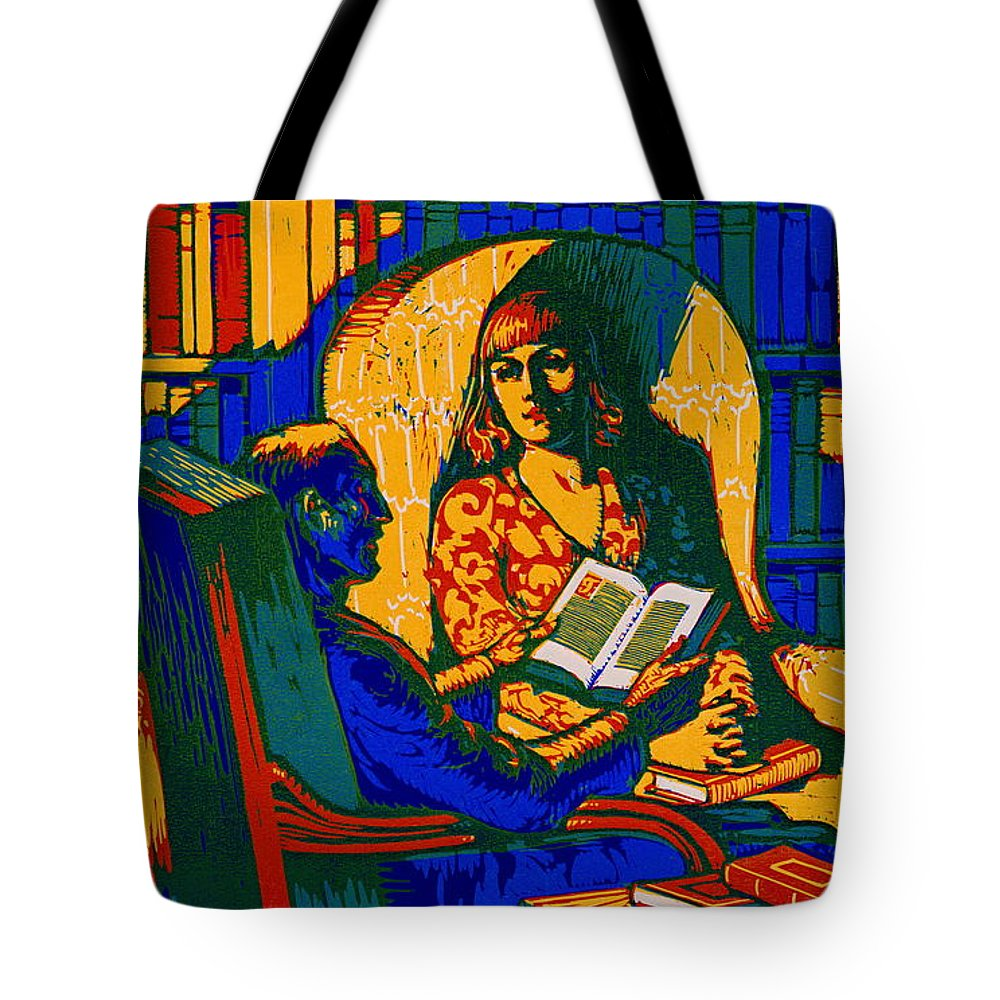 Retro Books Poster 1920 Tote Bag featuring the photograph Retro Books Poster 1920 by Padre Art