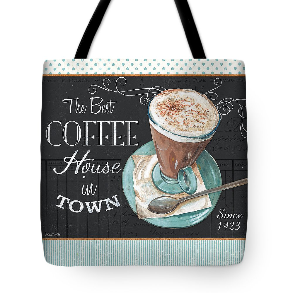 Coffee Tote Bag featuring the painting Retro Coffee 2 by Debbie DeWitt