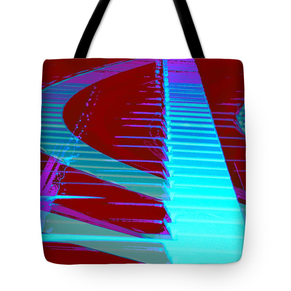 Piano Art Tote Bag featuring the photograph Retro Keys by Linda Sannuti