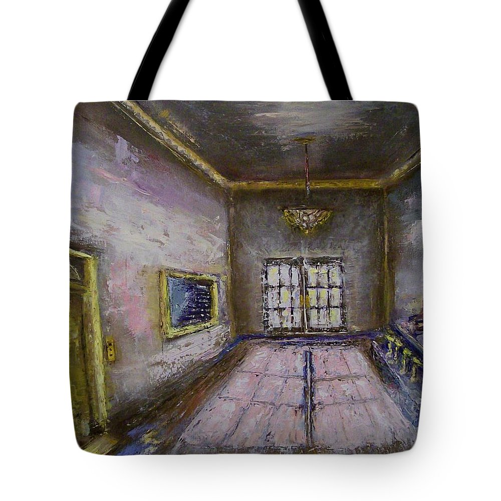 Lobby Tote Bag featuring the painting Retro Lobby by Stephen King