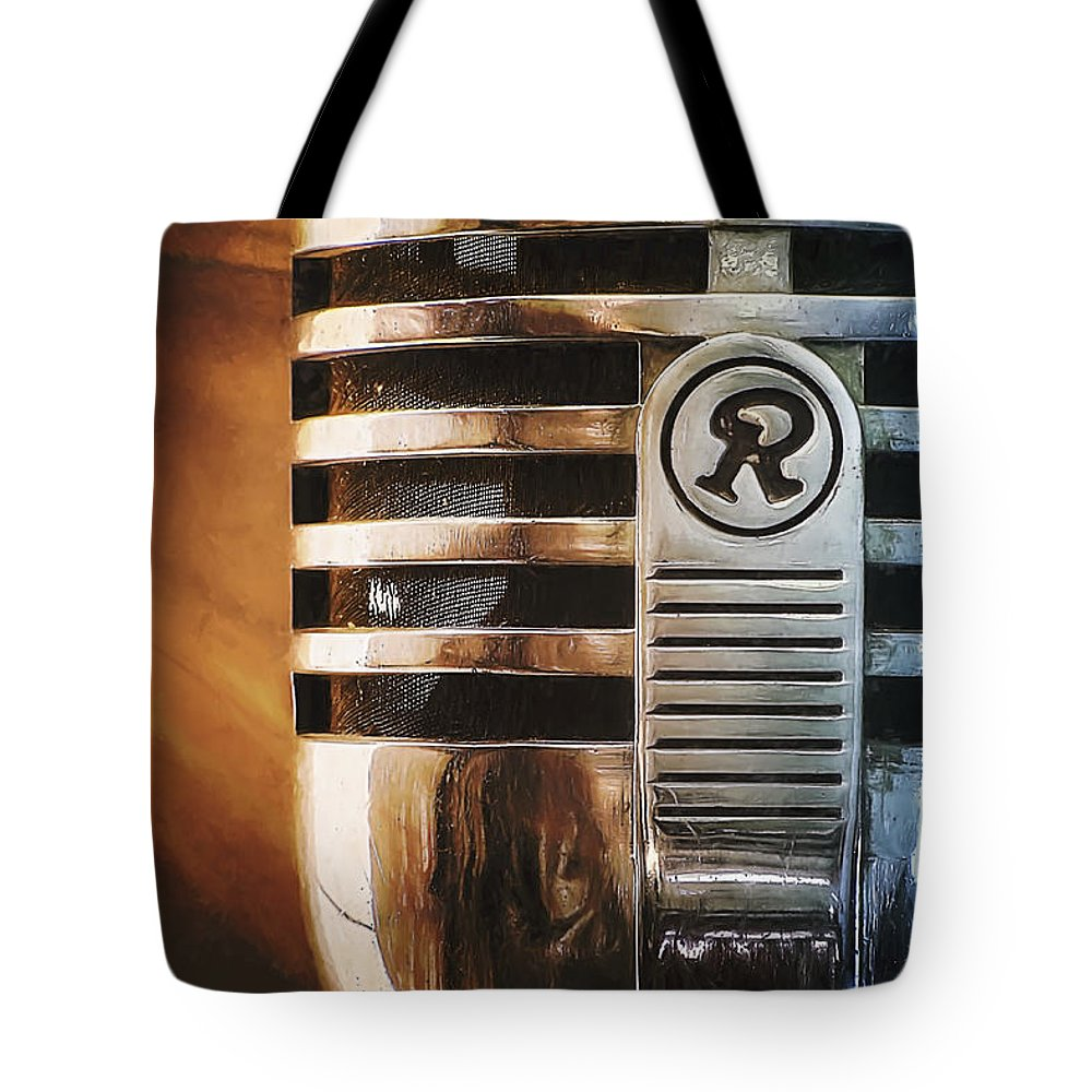 Mic Tote Bag featuring the photograph Retro Microphone by Scott Norris