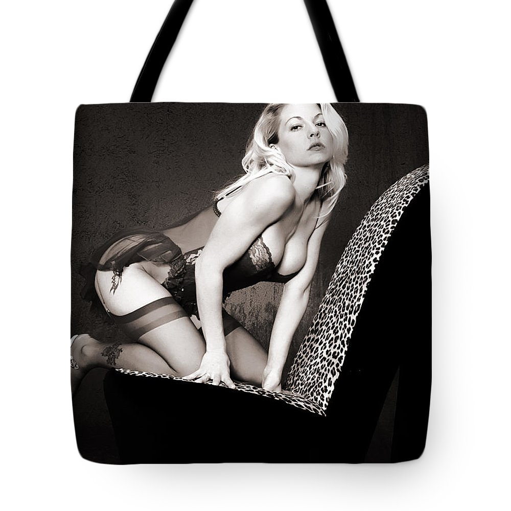 Clay Tote Bag featuring the photograph Retro Pinup by Clayton Bruster