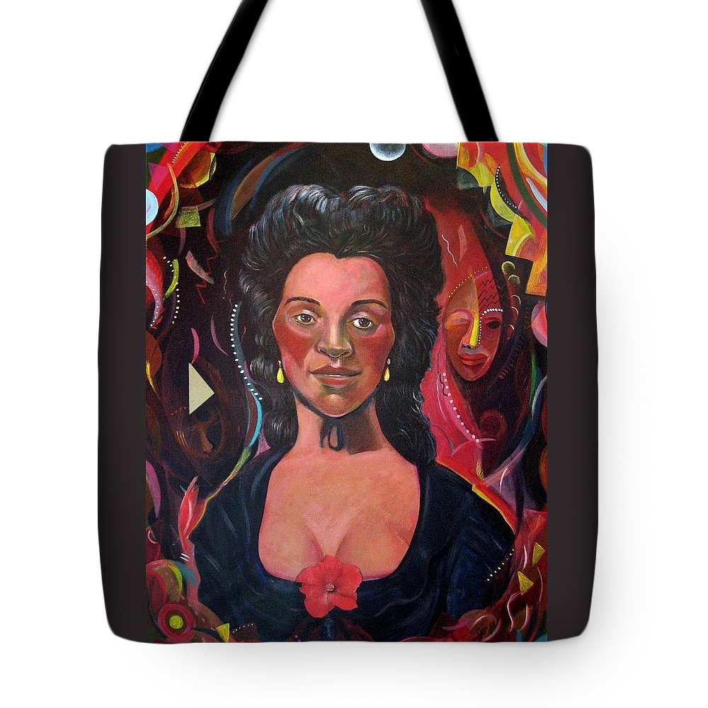 Portrait Tote Bag featuring the painting Retro Racing History After Gainsborough by Joyce Owens