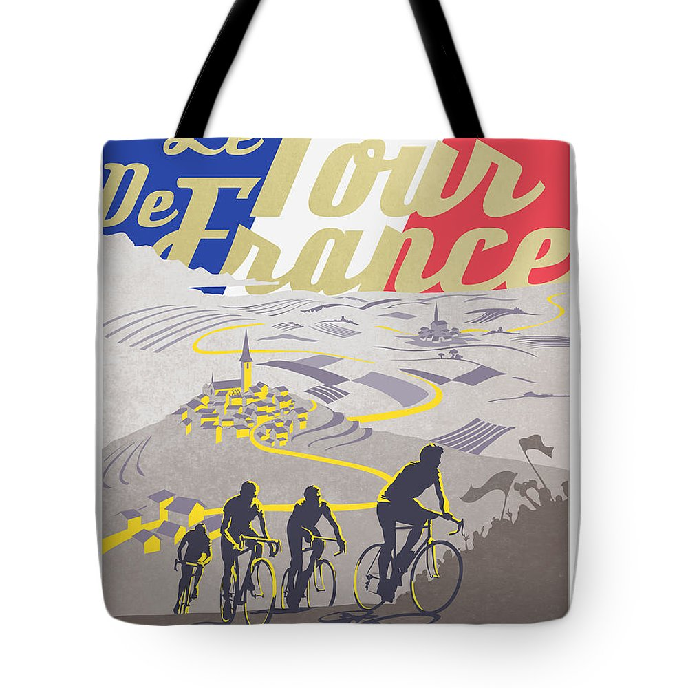 vintage tour de france tote bags fine art america. Black Bedroom Furniture Sets. Home Design Ideas