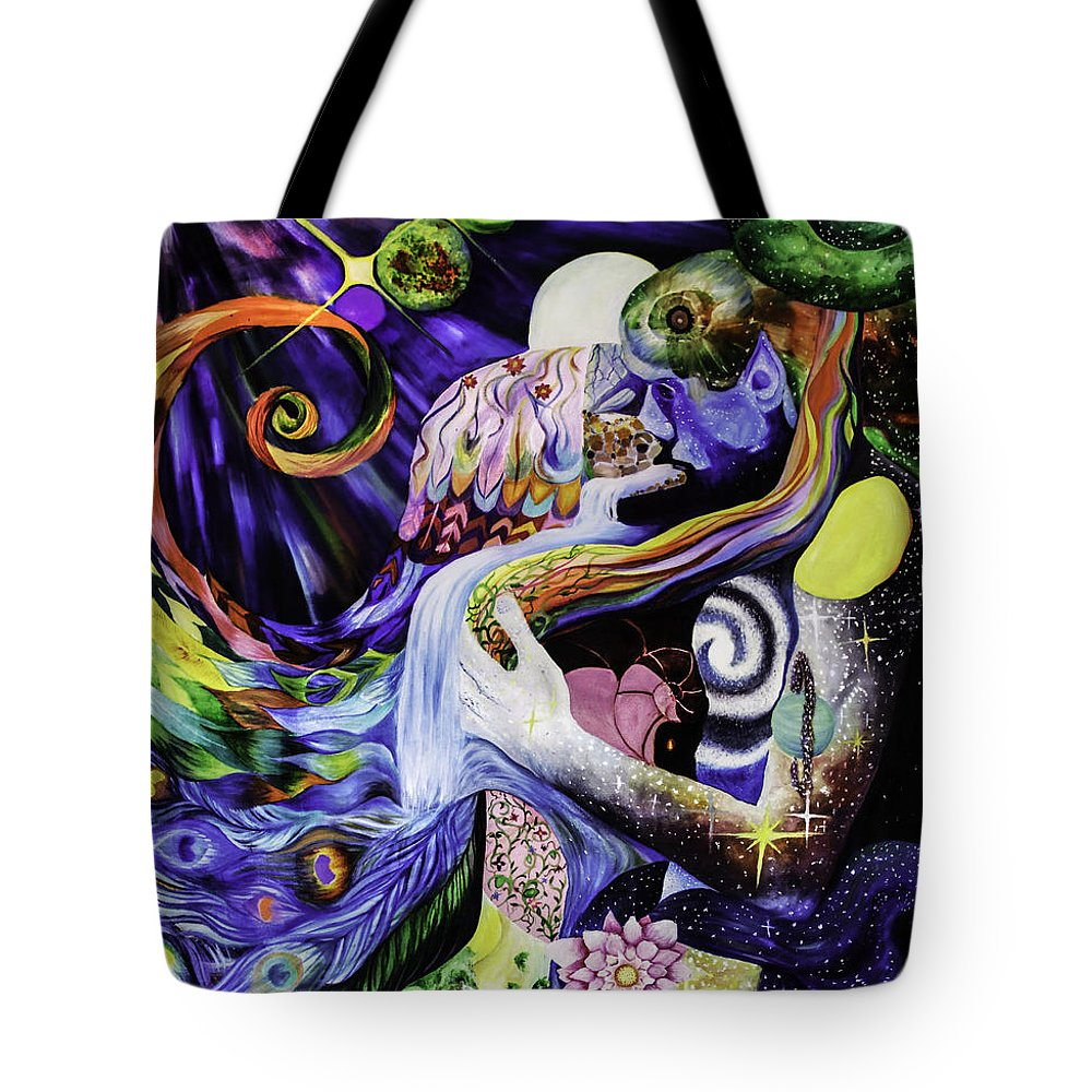 Love Tote Bag featuring the painting Reunion by Stephanie Koenig