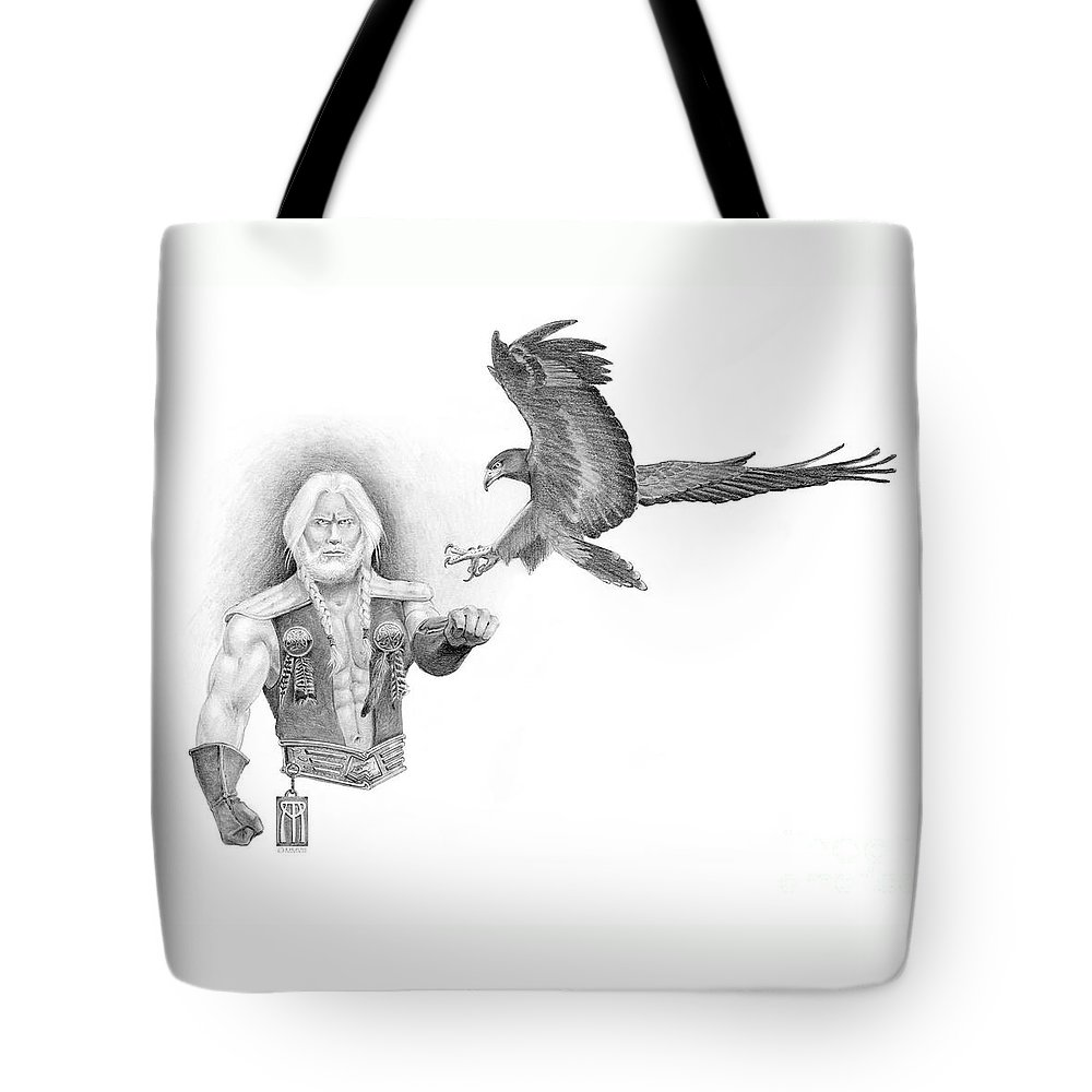 Barbarian Tote Bag featuring the painting Revan Ramstedder by Melissa A Benson