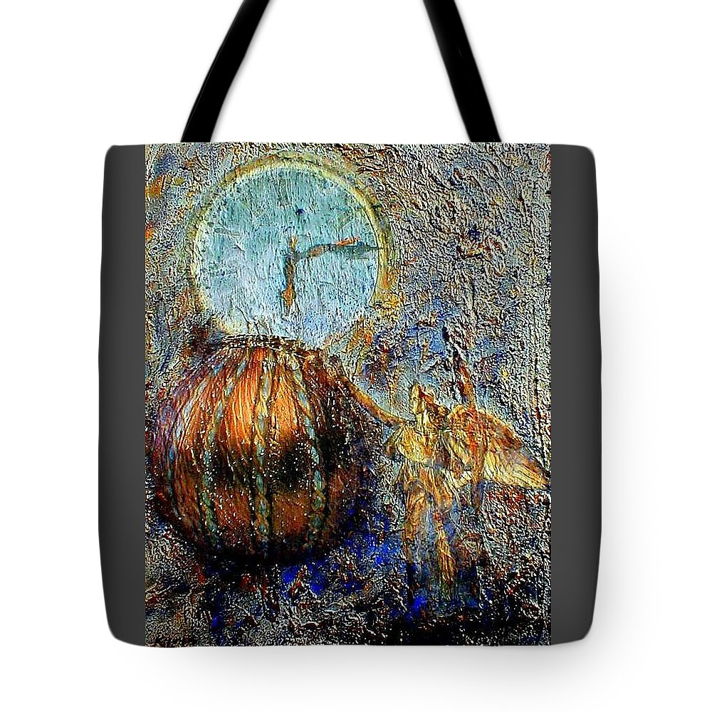 Christian Tote Bag featuring the mixed media Revelation by Gail Kirtz