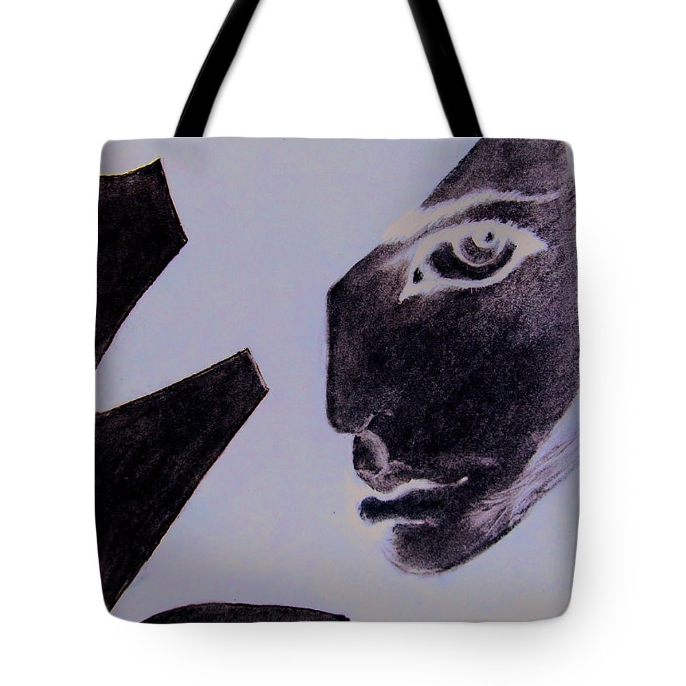 Black Tote Bag featuring the pastel Revenge by Kayon Cox