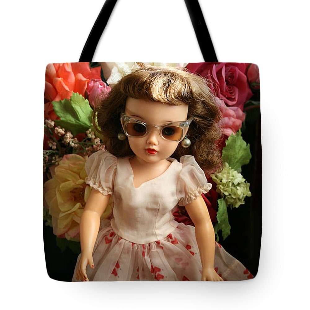 Doll Tote Bag featuring the photograph Revlon In Shades by Marna Edwards Flavell