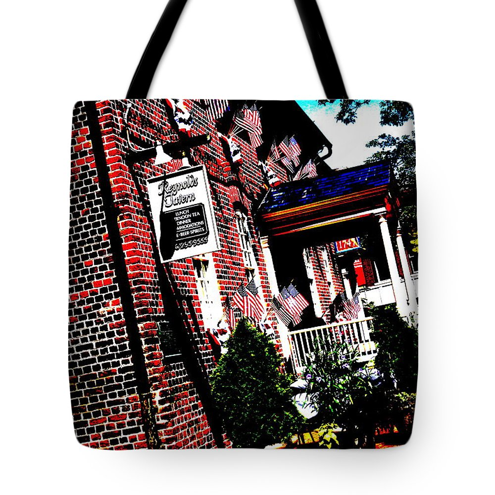 Reynolds Tavern Tote Bag featuring the photograph Reynolds Tavern Annapolis by Beth Deitrick