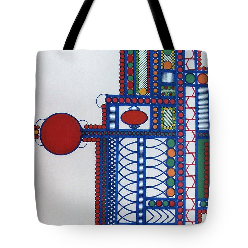 Abstract Towers Tote Bag featuring the drawing Rfb0414 by Robert F Battles