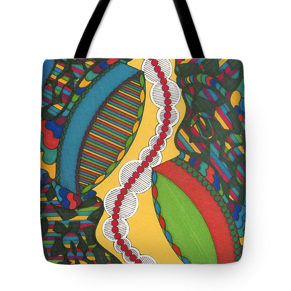 Abstract Tote Bag featuring the drawing Rfb0421 by Robert F Battles