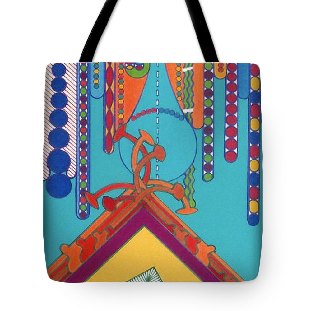 Abstract Tote Bag featuring the drawing Rfb0422 by Robert F Battles