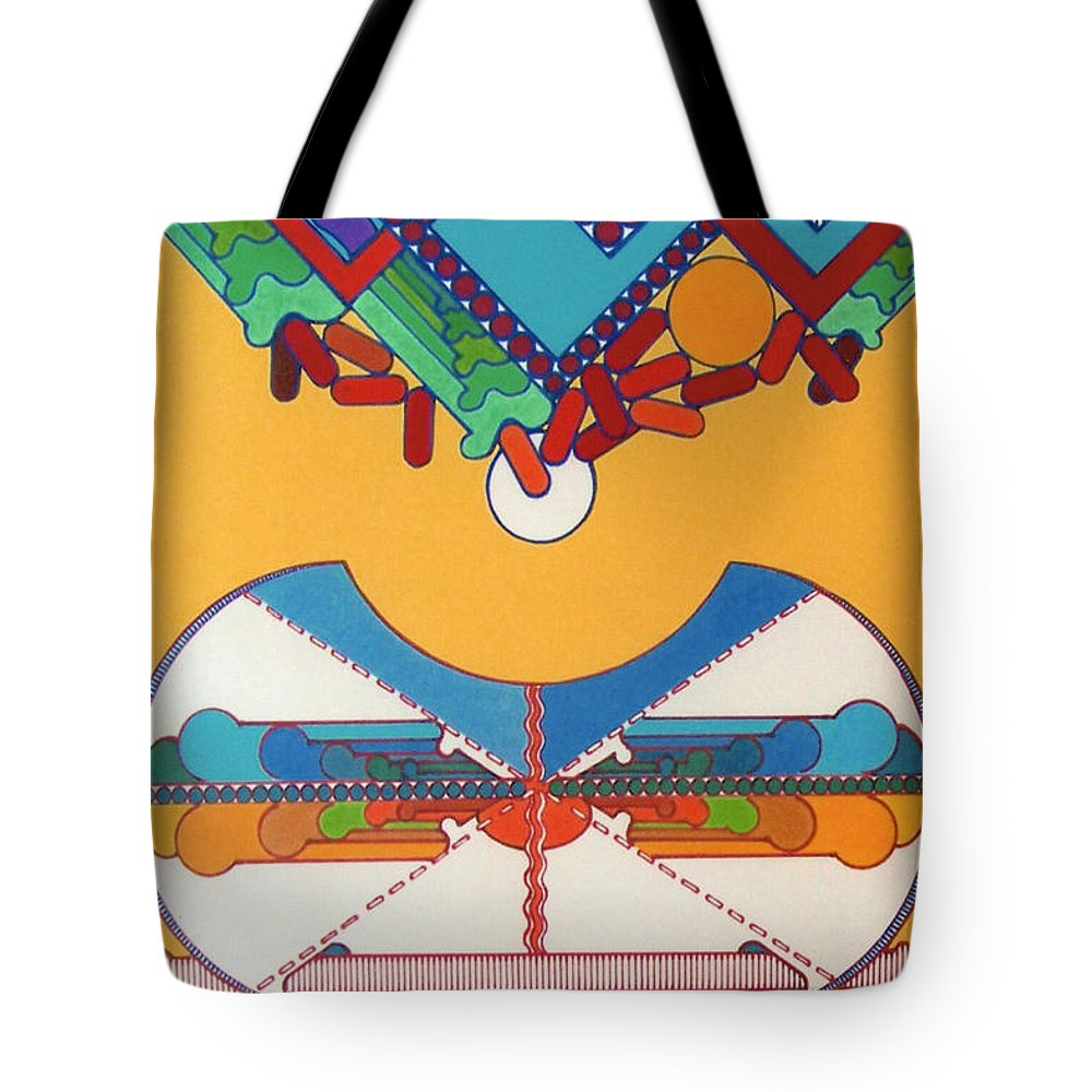 Dropping Skies Tote Bag featuring the drawing Rfb0423 by Robert F Battles