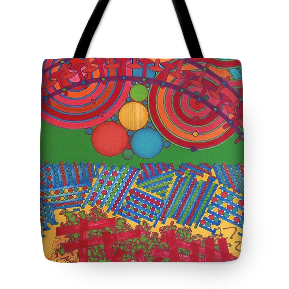 Sun Rise Reflect Tote Bag featuring the drawing Rfb0426 by Robert F Battles