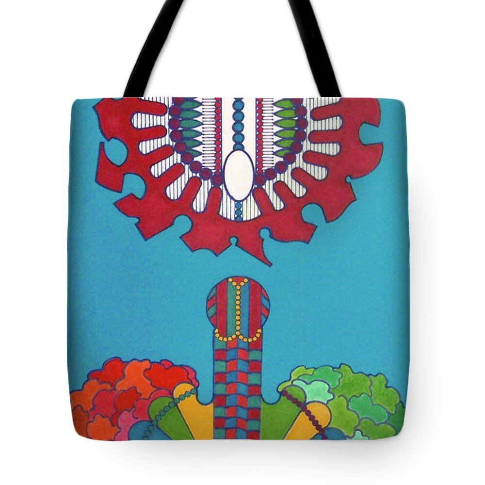 Abstract Bloom Tote Bag featuring the drawing Rfb0434 by Robert F Battles