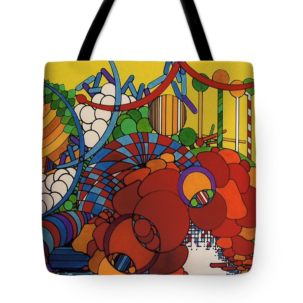 Abstract Theme Tote Bag featuring the drawing Rfb0507 by Robert F Battles