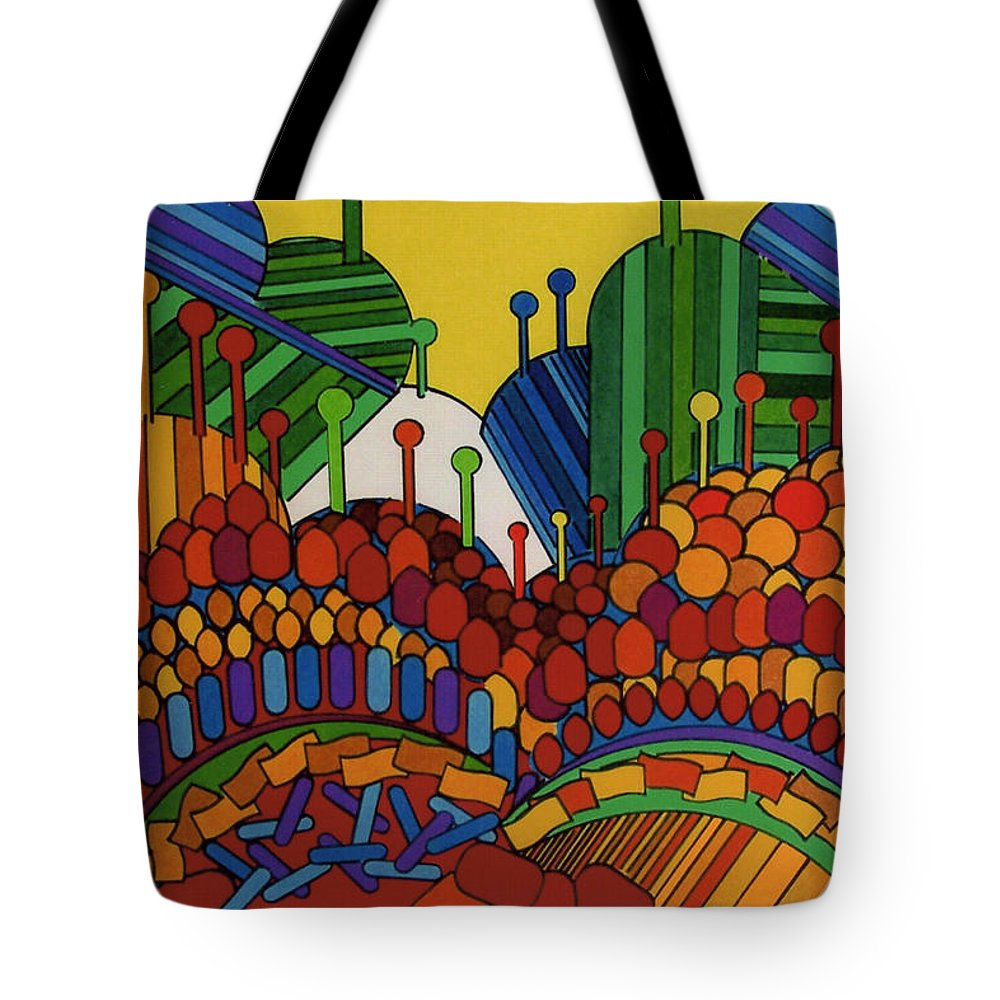Fantasy Forest Tote Bag featuring the drawing Rfb0508 by Robert F Battles