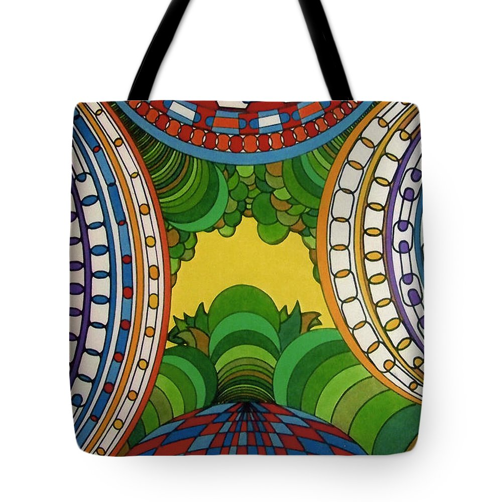 Birds Eye View Tote Bag featuring the drawing Rfb0512 by Robert F Battles