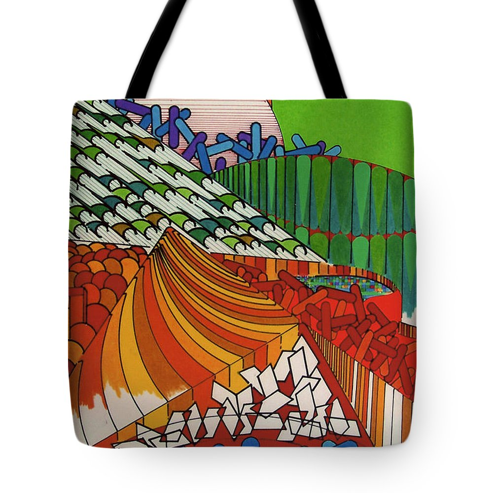Abstract Circus Tote Bag featuring the drawing Rfb0514 by Robert F Battles