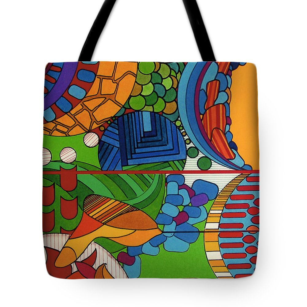 Sky High Tote Bag featuring the drawing Rfb0515 by Robert F Battles
