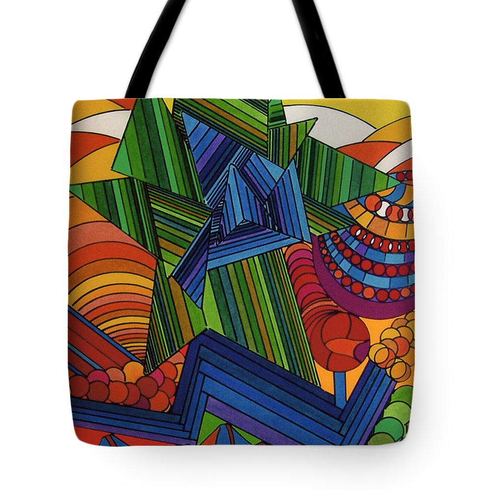 Over Growth Tote Bag featuring the drawing Rfb0517 by Robert F Battles