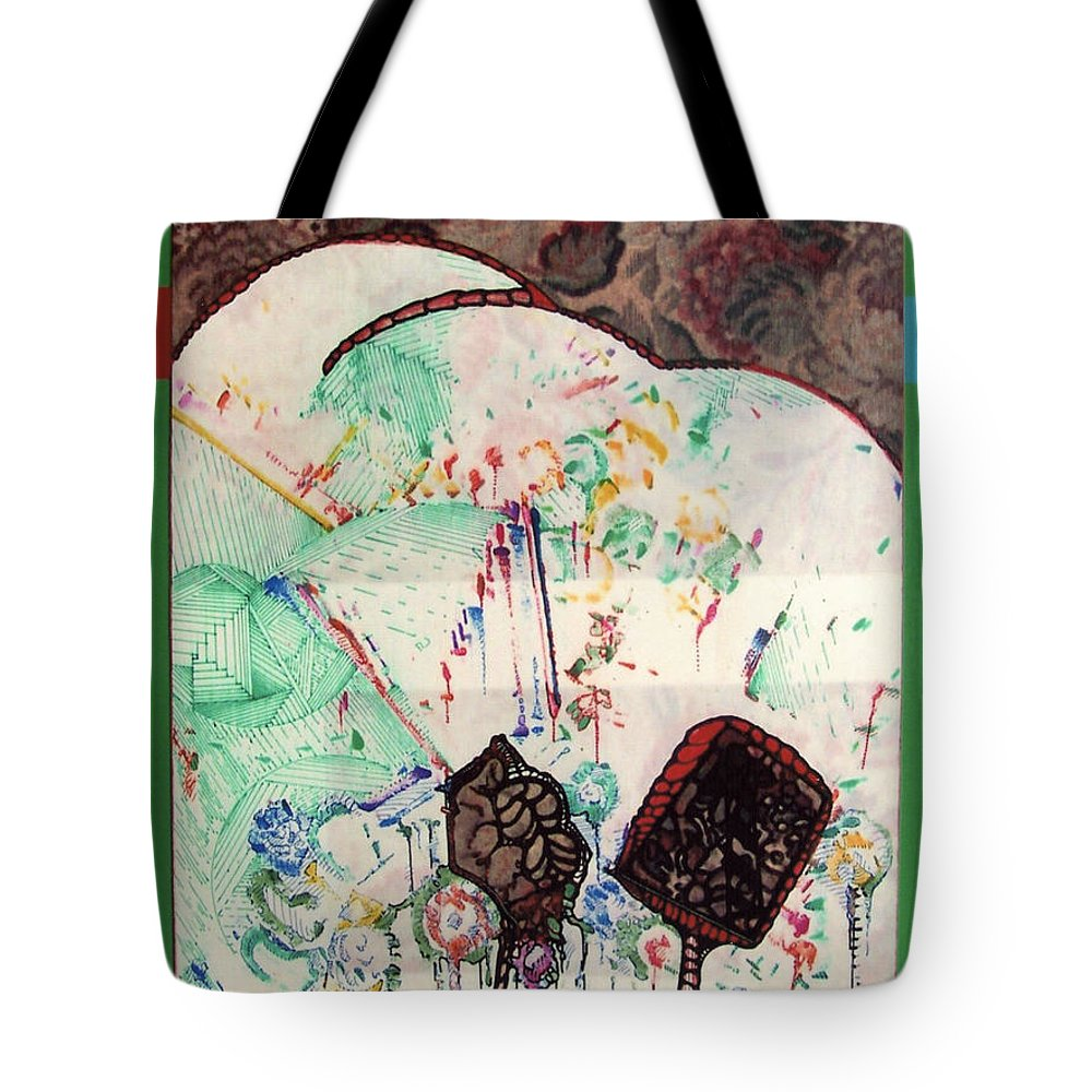 Rolling Hills Tote Bag featuring the drawing Rfb0518 by Robert F Battles