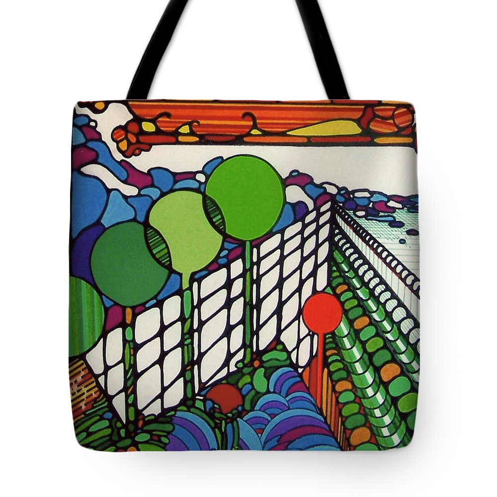 New Zealand Coastline Tote Bag featuring the drawing Rfb0520 by Robert F Battles