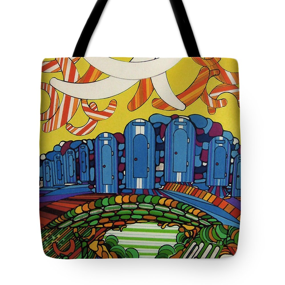 Boomerang Tote Bag featuring the drawing Rfb0526 by Robert F Battles