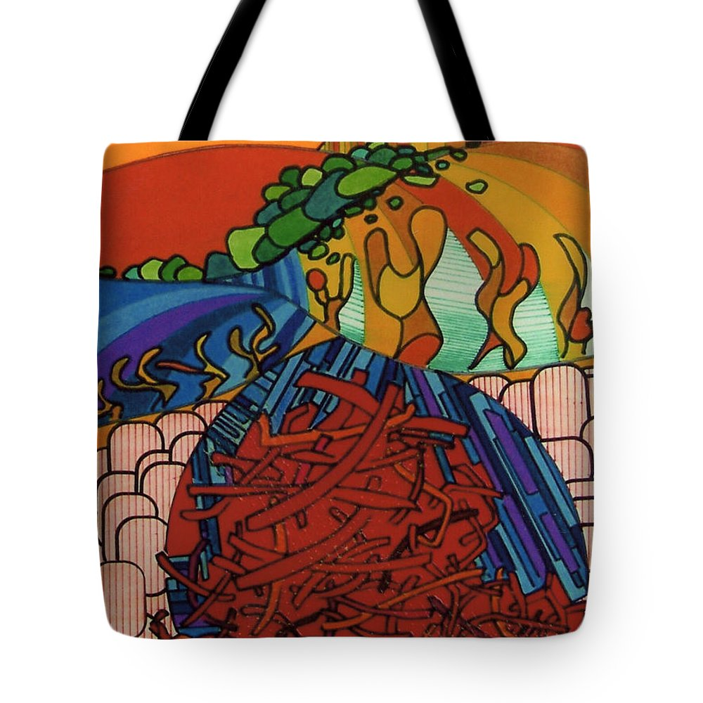 Sand Wanderer Tote Bag featuring the drawing Rfb0531 by Robert F Battles