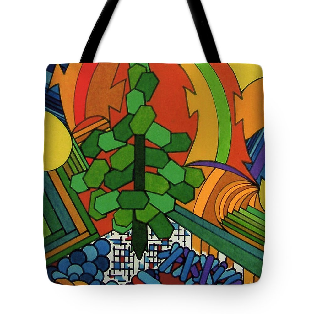 Windswept Tote Bag featuring the drawing Rfb0534 by Robert F Battles