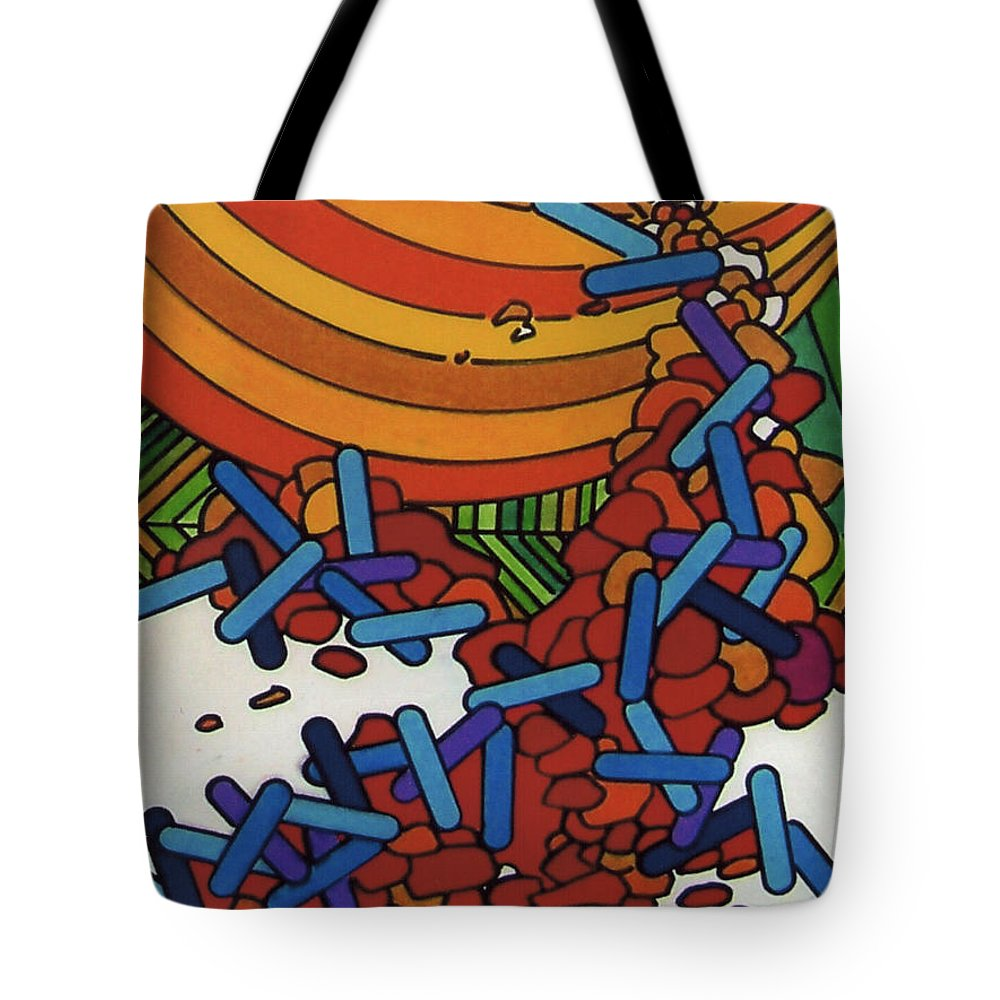 Ozidation Tote Bag featuring the drawing Rfb0540 by Robert F Battles