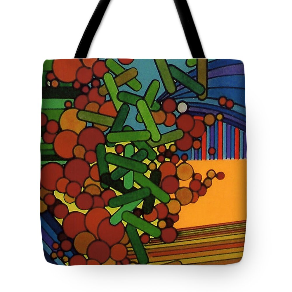 Over Growth Tote Bag featuring the drawing Rfb0542 by Robert F Battles