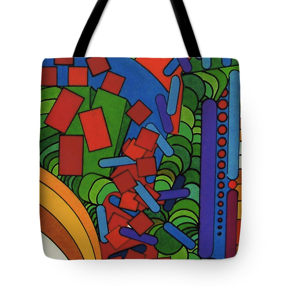 Abstract Alleyway Tote Bag featuring the drawing Rfb0543 by Robert F Battles