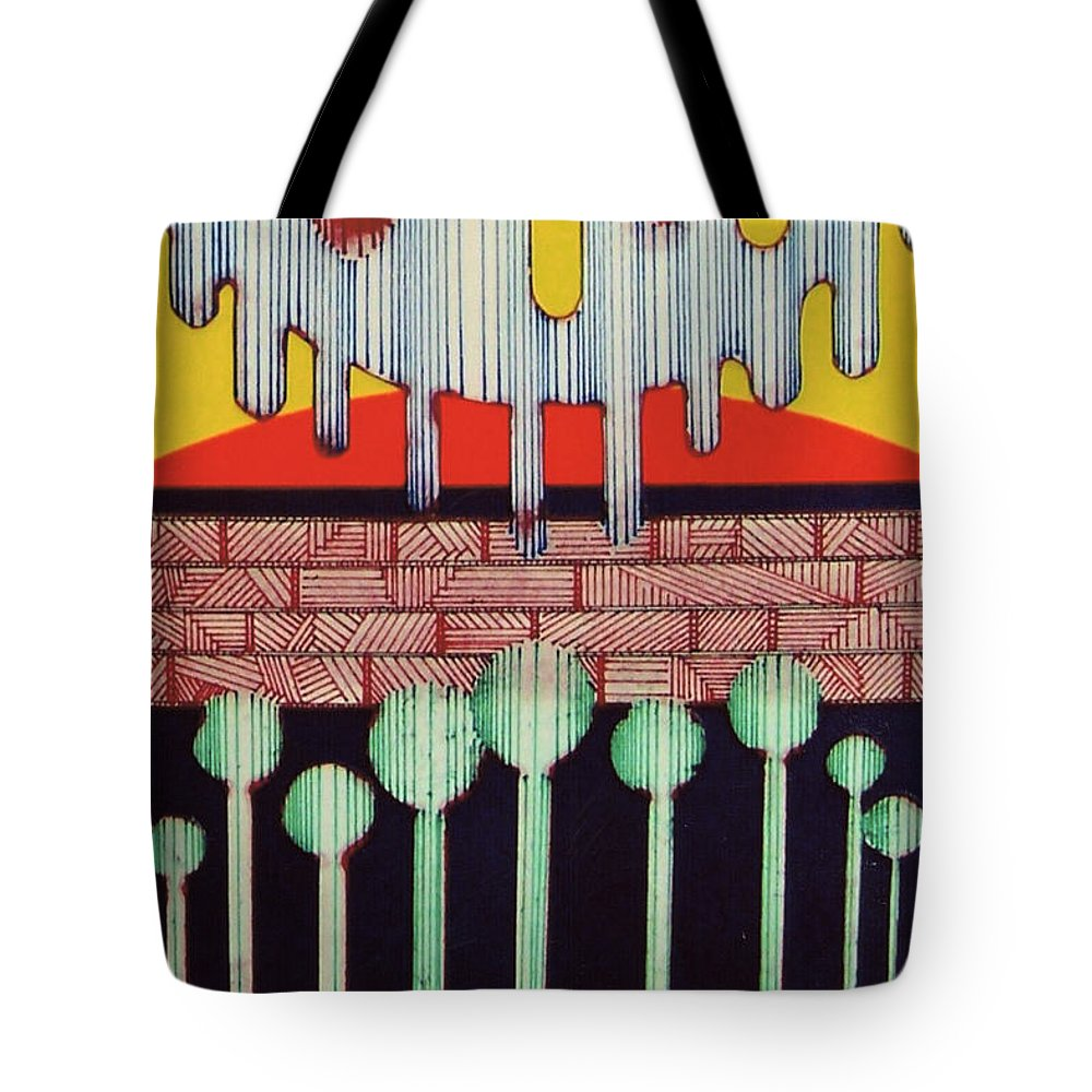 Flight Bird Tote Bag featuring the drawing Rfb0545 by Robert F Battles