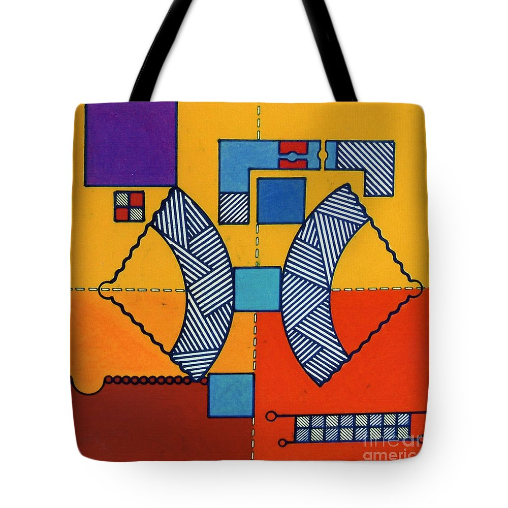 Angles Tote Bag featuring the drawing Rfb0554 by Robert F Battles
