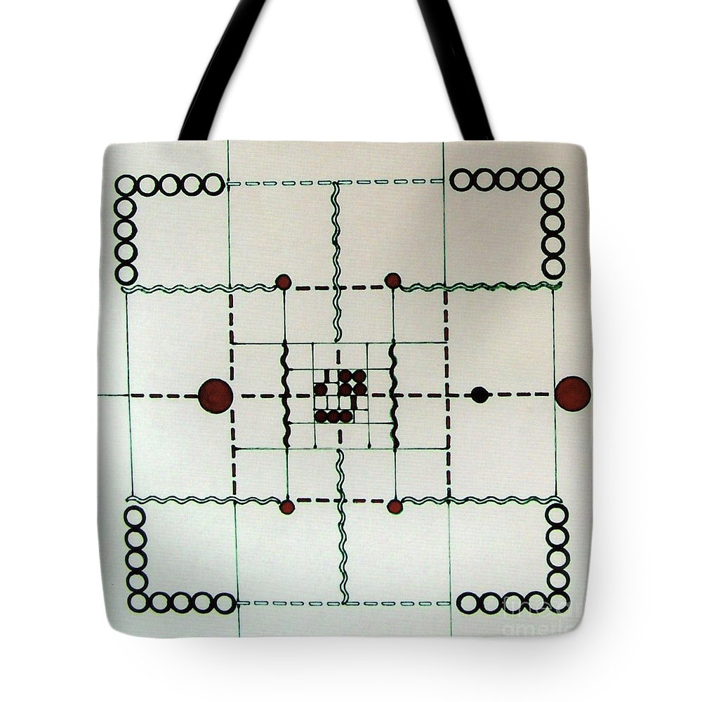 Accurate Design Tote Bag featuring the drawing Rfb0558 by Robert F Battles