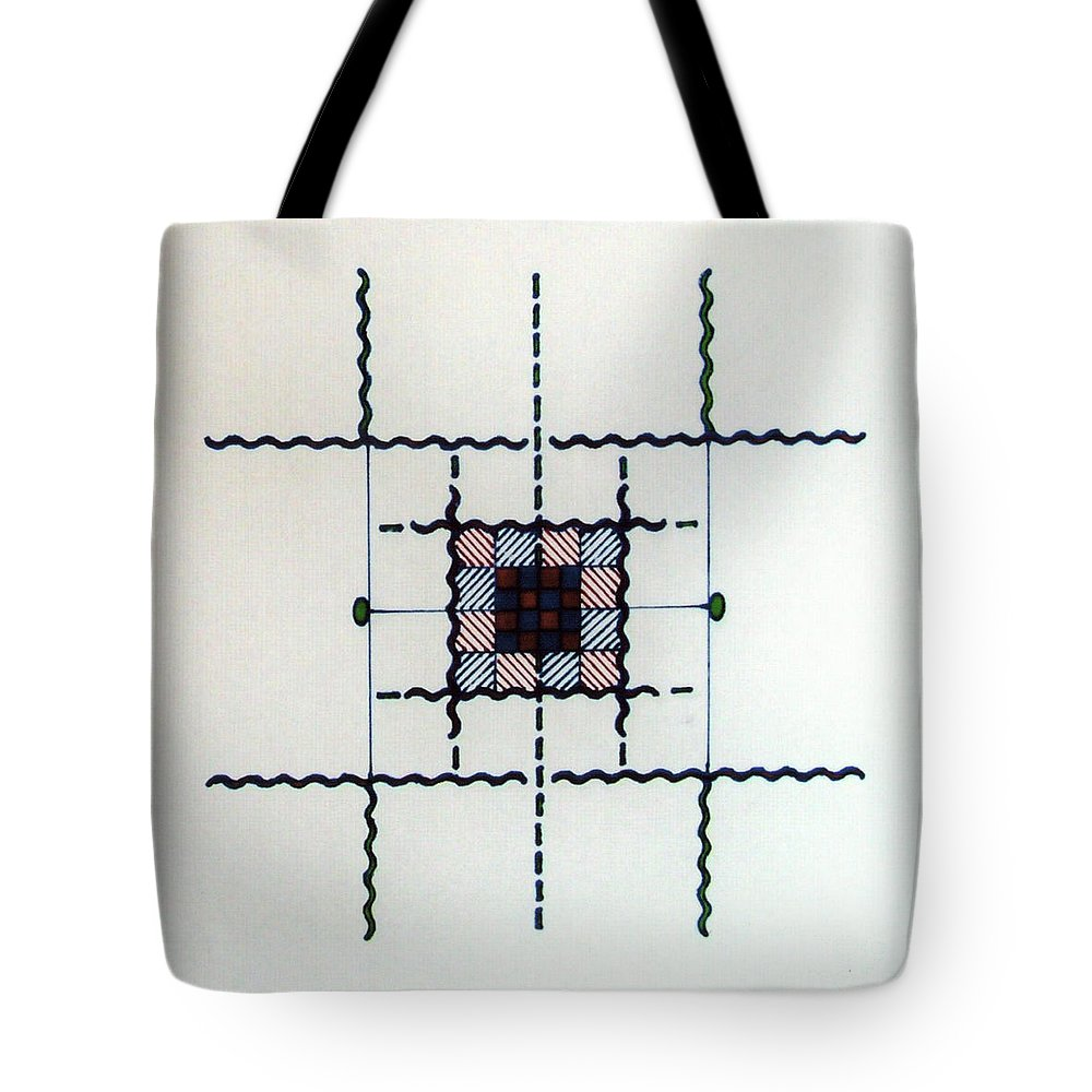 Simple Lines Tote Bag featuring the drawing Rfb0561 by Robert F Battles