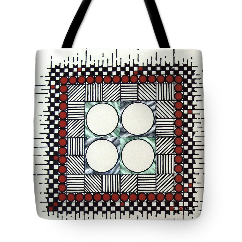 Abstract Tote Bag featuring the drawing Rfb0562 by Robert F Battles