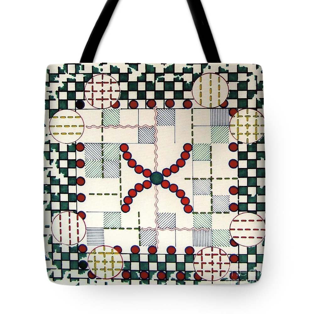 Festive Christmas Tote Bag featuring the drawing Rfb0563 by Robert F Battles