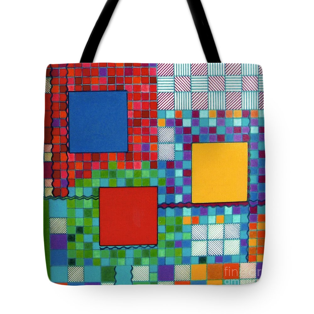 Blue Tote Bag featuring the drawing Rfb0571 by Robert F Battles
