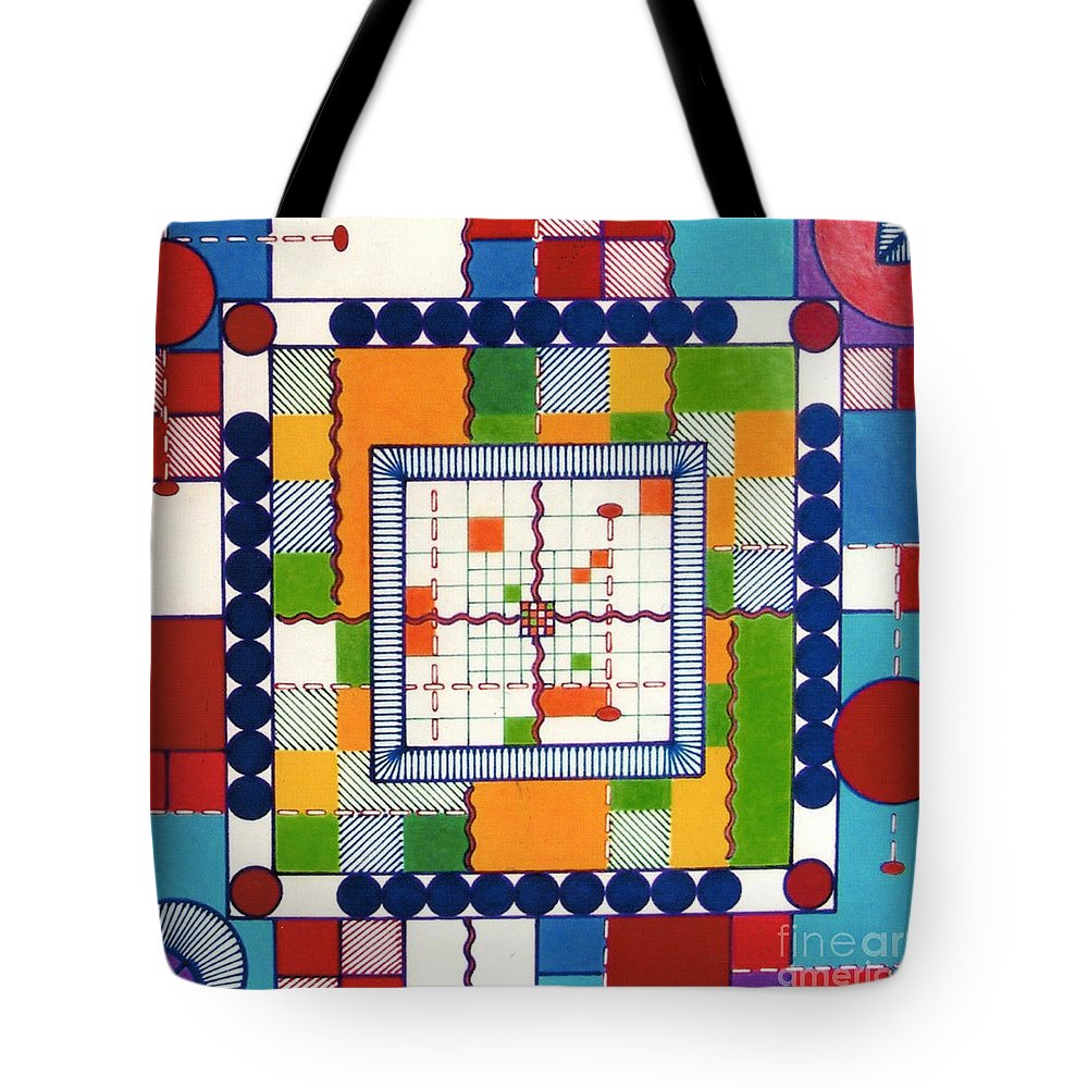 Square Bordum Tote Bag featuring the drawing Rfb0573 by Robert F Battles