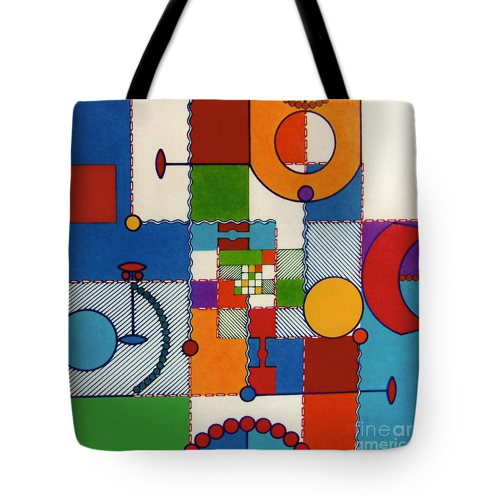 Pliad Tote Bag featuring the drawing Rfb0575 by Robert F Battles