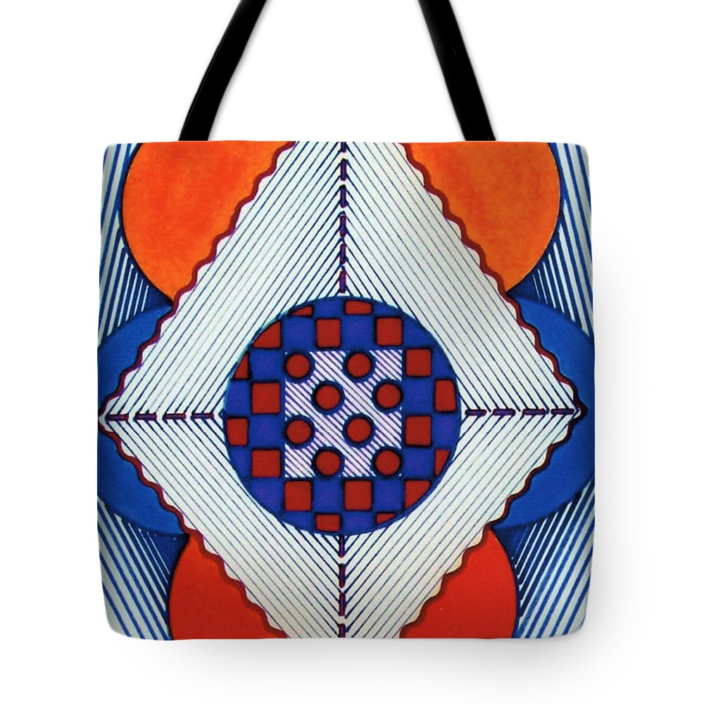 Hypno Tote Bag featuring the drawing Rfb0576 by Robert F Battles