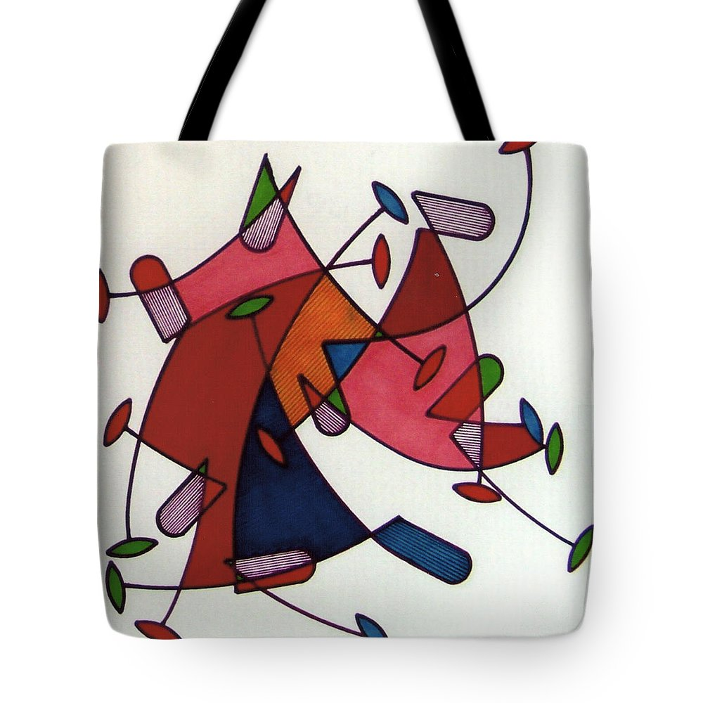 Fast Pace Tote Bag featuring the drawing Rfb0583 by Robert F Battles